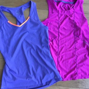 Lot of 2- Size Small Athletic Tops- Athleta & Nike